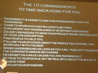 Richard Collin 10 Commandments